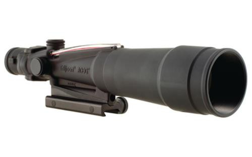 Trijicon ACOG Dual Illumination 5.5x50mm Scope With TA51 Mount Red Chevron .308 Ballistic Reticle Black