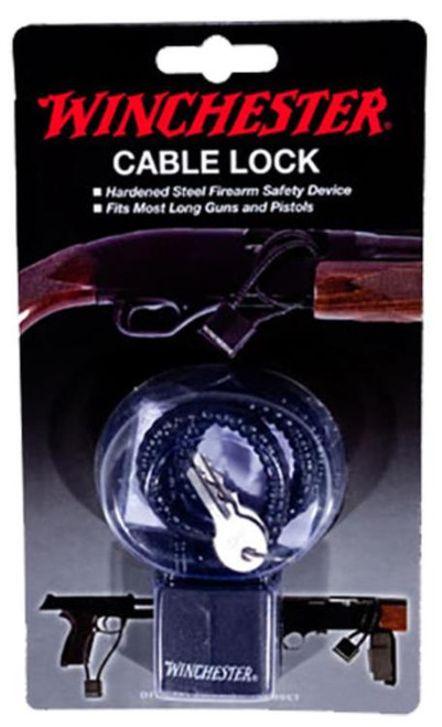 "DAC Technologies Winchester Hardened Steel Cable Lock 15"", California Approved"