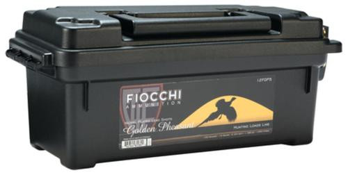 Fiocchi Golden Pheasant Nickel 12 Gauge 2.75 Inch 1250 FPS 1.3 Ounce 5 Shot 100 Rounds In Plano Case