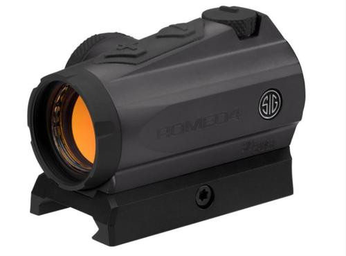 Sig Sauer, ROMEO4M Red Dot Sight, 2 MOA, M1913 Rail Interface, Includes Hi and Low Mount, Graphite Finish