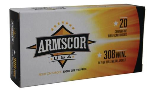 Armscor .308 Win 147gr, FMJ, 20rd Box