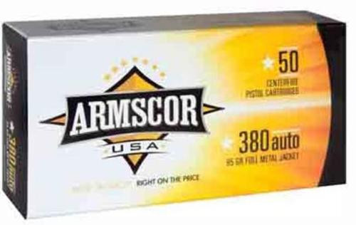 Armscor 380 ACP 95gr, Full Metal Jacket 50rd Box