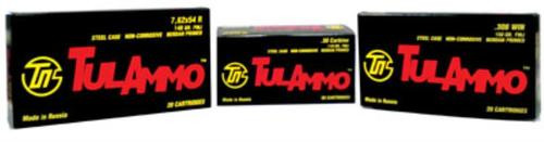 Tulammo 7.62mmX54mm Russian 148 Gr, FMJ, Steel Case, 20rd Box