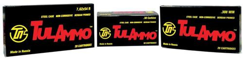 TulAmmo 7.62x39mm 124 Gr, Hollow Point, Steel Case, 40rd/Box