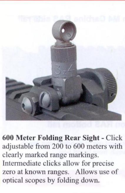 Knights 200-600M Flip-Up Rear Sight