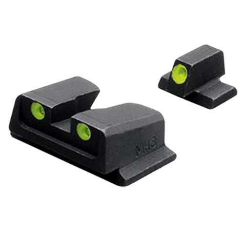 Meprolight Tru-Dot NS Fixed Set S&W M&P 9/40 Full Size/Comp Tritium Green