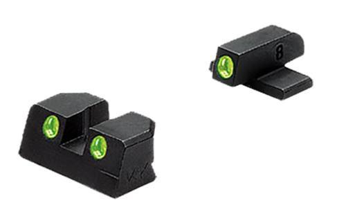 Meprolight Tru-Dot NS Fixed Springfield XD Full Size 45 Tritium Green F/R