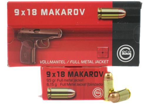 Geco 9mm Makarov (9mmx18mm) FMJ 95 gr, 50rd/Box