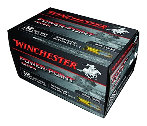 Winchester 42 Max Power Point 22LR 42gr, Hollow Point, 50rd/Box