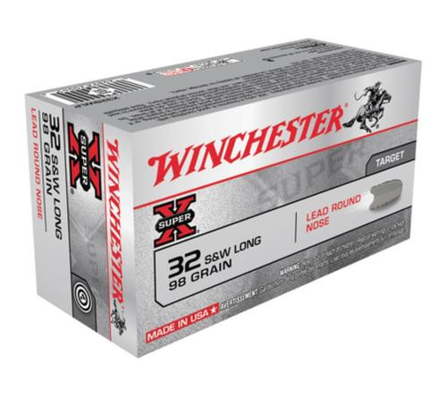 Winchester Super X 32 S&W Long Lead Round Nose 98gr, 50rd Box