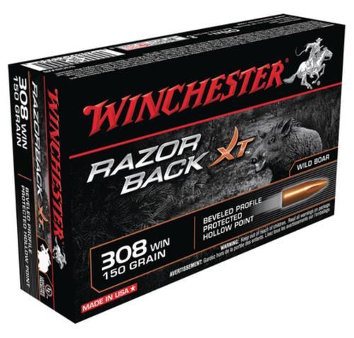 Winchester Razorback XT Rifle Ammunition .308 Winchester 150gr, Razorback XT 20rd Box
