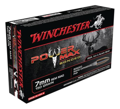 Winchester Power-Max 7mm Rem Mag 150gr, Protected Hollow Point Bonded 20rd Box