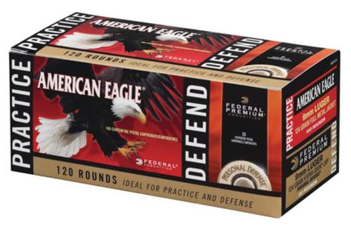 Federal Personal Defense Combo Pack Hydra-Shok/American Eagle 9mm 124 Grain 120 Rounds Total