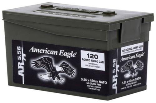 Federal 5.56mm NATO 55gr M193 Mini Ammo Can, 120rd/Can