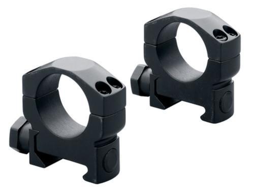 """Leupold Mark 4 Ring Set 1"""" Diam Medium Aluminum Black Matte"""