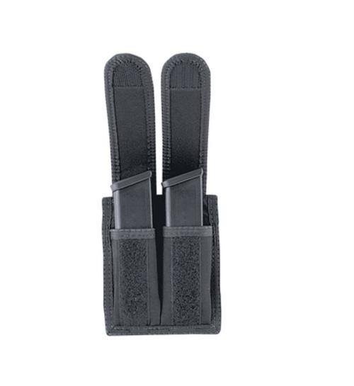 Uncle Mike's Double Mag Pouch 29-1, Up to Glock 10mm & 45 ACP, Velcro, Black