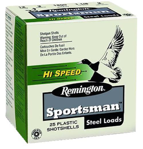 "Remington Sportsman Hi-Speed Loads 12 Ga, 3"", 1.1oz, 4 Shot, 25rd/Box"