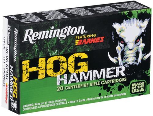 Remington Hog Hammer .30-06 Springfield 168gr, Barnes TSX 20rd Box