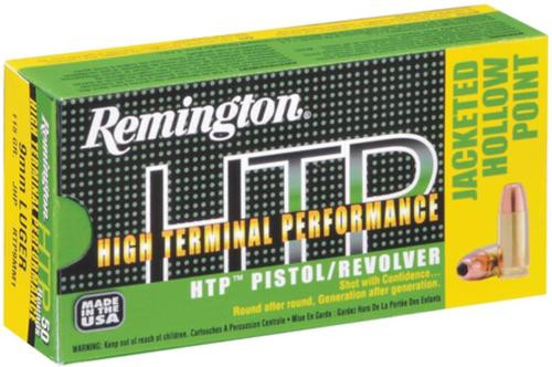 Remington HTP 45 ACP 230gr, Jacketed Hollow Point 50rd Box