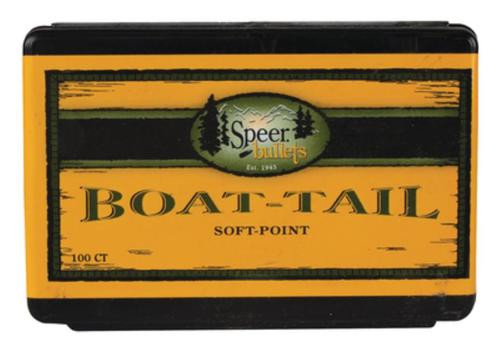 Speer Rifle Bullets Boat Tail 338 Caliber .338 225 Gr, Spitzer, Boat Tail, Soft Point, 50/Box