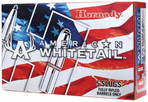 "Hornady American Whitetail Slug 12 Ga 325gr, 2.75"", InterLock, 5rd/Box"