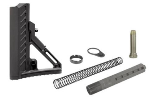Leapers, Inc. - UTG Model 4, Combat Ops S2, Stock Kit, 6-Position Mil-Spec Stock Assembly, includes Extension Tube, Buffer, Buffer Spring, Tear-drop Ring and Castle Nut, Black