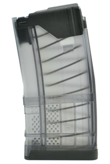 Lancer L5 Advanced Warfighter Magazine 5.56/223, Translucent Smoke, 20rd