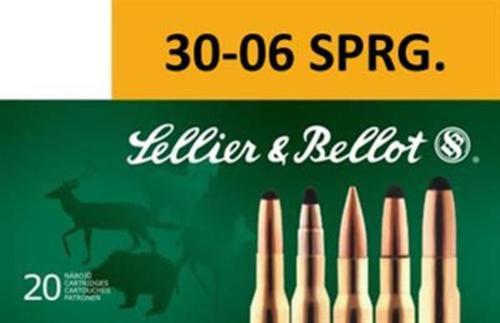 Sellier & Bellot .30-06 Spring 150gr, SPCE, 20rd Box, 20 Box/Case