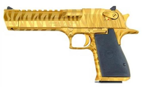 "Magnum Research Desert Eagle .357 Mag, 6"", 9rd, Gold Tiger Stripe"