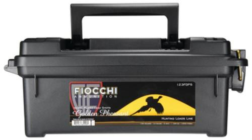 Fiocchi Golden Pheasant Nickel 12 Gauge 3 Inch 1200 FPS 1.75 Ounce 5 Shot 100 Rounds In Plano Case
