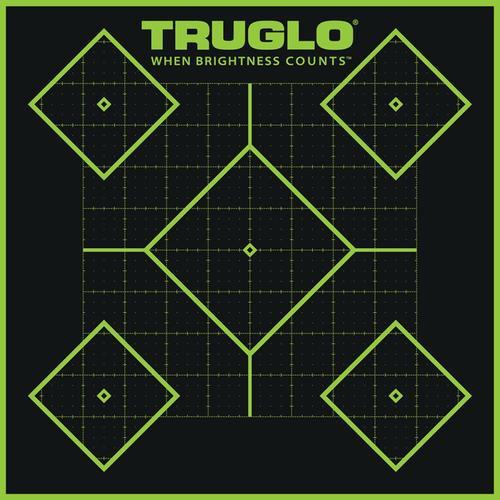 Truglo 6 Pack 5 Diamond Targets Hi-Viz 1/4 Measurments Self-Adhesive