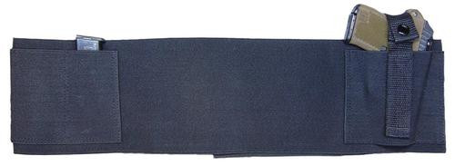 """Peace Keeper Belly Band Concealment Elastic/Velcro Large 36-44"""" Black"""