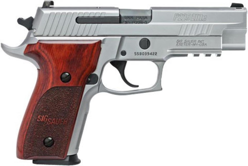 "Sig P226 ASE Elite 9mm 4.4"" Barrel Night Sights Rosewood Grips 15rd Mag"