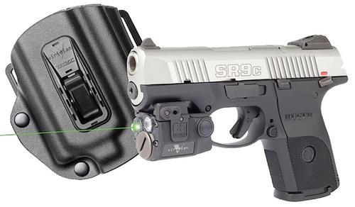 Viridian 2 C5L, Tacloc Holster for Ruger SR9C Green Laser 100 Lm