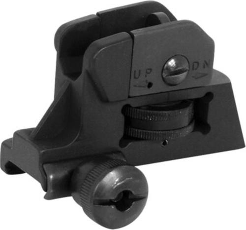 NCStar AR-15 Detachable Rear Sight, Black