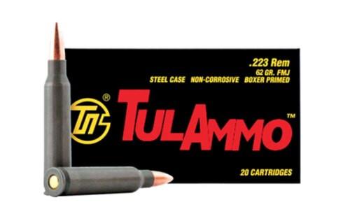 TulaAmmo .223 Rem, 62Gr, FMJ, Steel Case, 20rd Box