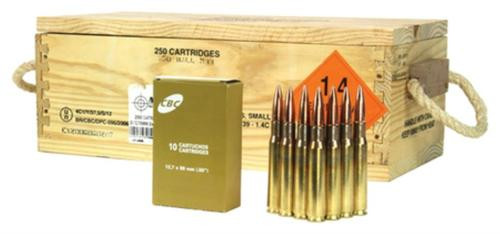 Barrett Firearms .50 BMG CBC Ammunition 656gr, Full Metal Jacket, 250rd/Case