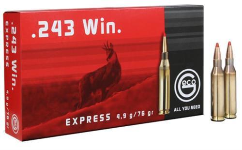 GECO .243 Winchester 76 gr, Express Tip 20rd/Box