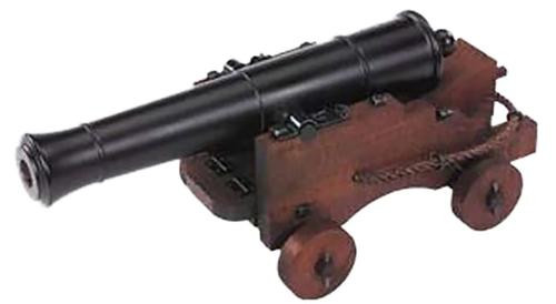 """Traditions Old Ironsides Mini Cannon 69 Cal 12.5"""" Brl Fuse Ignition Blued"""