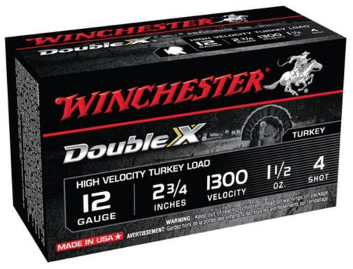 Winchester Double X High Velocity Turkey Loads Copper Plated Buffered 12 Gauge 2.75 Inch 1300 FPS 1.5 Ounce 4 Shot