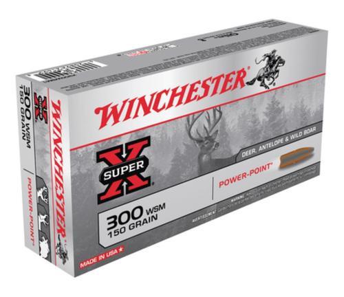 Winchester Super-X .300 Winchester Short Magnum 150gr, Power-Point 20rd Box