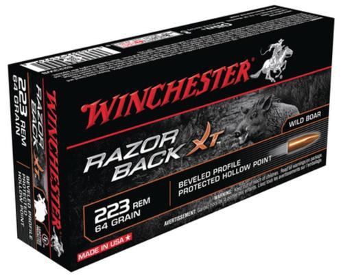 Winchester Razorback XT Rifle Ammunition .223 Remington 64 Grain Razorback XT