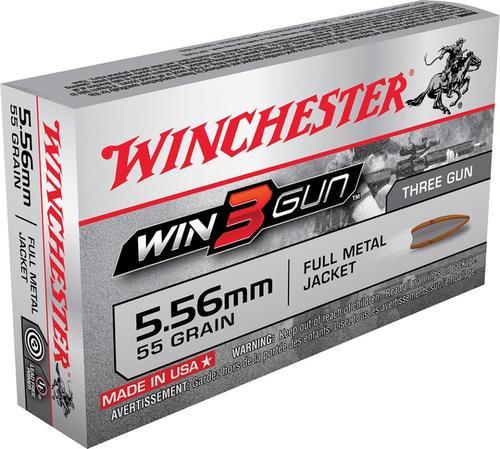 Winchester Win3Gun 5.56 NATO 55gr, FMJ, 20rd Box, 50rd/Box