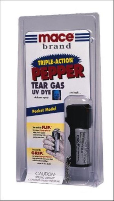 Mace Triple Action Pepper Spray Contains 5, One Second Bursts 11gr, 6-12ft