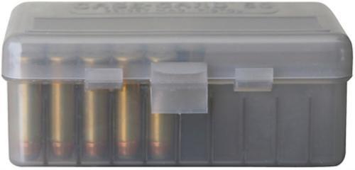 Case-Gard 50 Series Handgun Ammo Box .380 and 9mm Clear Smoke