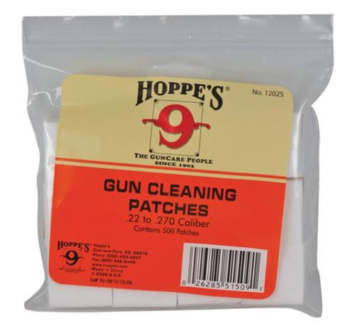 Hoppe's Gun Cleaning Patches .22-.270 Caliber Bulk 500 Pack