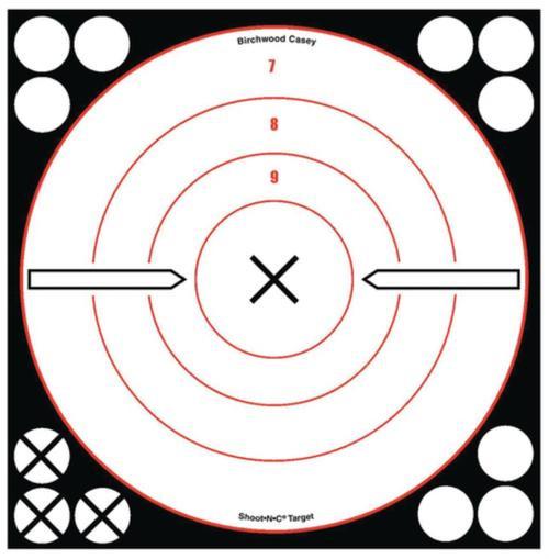 """Birchwood Casey Shoot-N-C White/Black 8""""rd Bullseye 6 Plus 72 Pasters"""