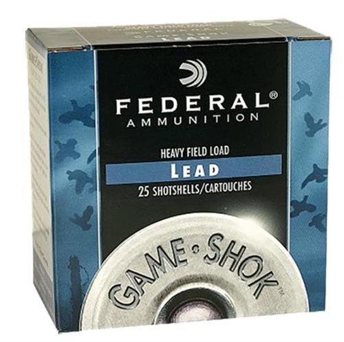 "Federal Game Shok Heavy Field 20 Ga, 2.75"", 1 oz, 6 Shot, 25rd/Box"