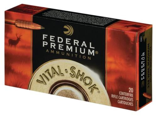 Federal Vital-Shok .338 Winchester Magnum 200gr, Trophy Bonded Bear Claw 20rd Box