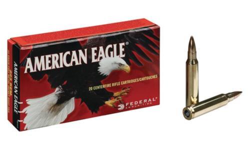 Federal Standard 223 Remington FMJ BT 55gr 20Box/25Case